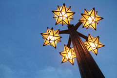 Lampe ist wie Sternform Stockbild