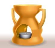 Lampe jaune d'arome Images stock