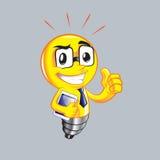 Lampe jaune drôle Photos stock
