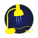 Lampe jaune lumineuse Photo stock