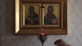 Lampe, Kerze stock footage