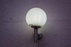 Lampe légère chaude ronde Photos libres de droits