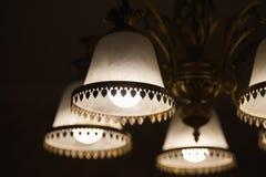 Lampe légère de rétro abat-jour Photo libre de droits