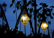 Lampe la nuit, Venise, Italie Photo stock