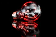 Lampe and light reflection royalty free stock photography