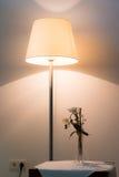 Lampe lumineuse avec la fleur images libres de droits