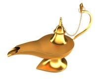 Lampe magique arabe de génie d'isolement image stock