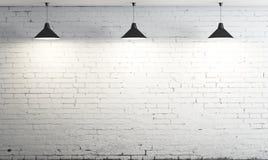 Lampe mit drei Decken Stockbild