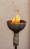Lampe mit einem offenen Feuer Lizenzfreies Stockbild