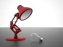 Lampe mit Glühlampe Stockfoto