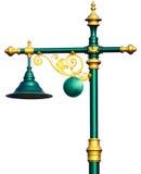 Lampe mit Standweinlese auf weißem Hintergrund Stockbilder