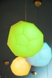 Lampe moderne polychrome Images libres de droits