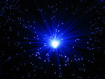 Lampe optique de fibre Image libre de droits