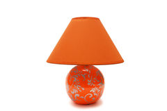 Lampe orange photographie stock libre de droits