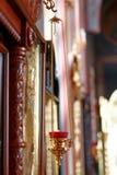 Lampe orthodoxe d'icône Huile d'église Attribut d'église Image libre de droits