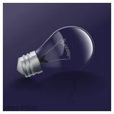 Lampe outre du concept attendant dessus au succès Photographie stock
