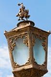 Lampe ouvrée de stationnement Photographie stock