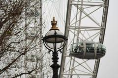 Lampe par l'oeil de Londres Images stock