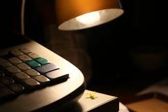 Lampe par nuit Photographie stock