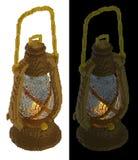 lampe à pétrole isométrique du voxel 3d Image stock