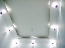 Lampe ronde de plafond, appareils d'éclairage accrochants modernes Photos stock