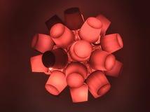 Lampe rouge de type viral artistique Photographie stock libre de droits