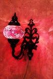 Lampe rouge turque Images libres de droits