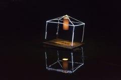 Lampe sur l'eau Image libre de droits