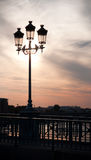 Lampe sur la passerelle Photos stock