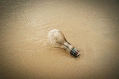Lampe sur la plage Photographie stock