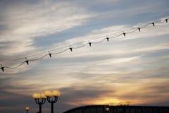Lampe sur le bateau Photographie stock libre de droits