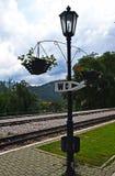 Lampe sur le ` de Mokra Gora de ` de gare ferroviaire photo libre de droits
