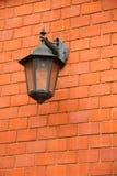 Lampe sur le mur Photo libre de droits
