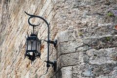 Lampe sur le mur Images libres de droits