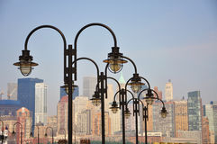 Lampe sur le paquet, New York City Images stock
