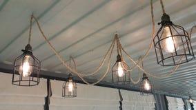 Lampe sur le plafond Images libres de droits