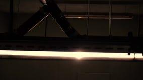 Lampe technique de pièce banque de vidéos
