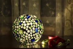 Lampe tiffany colorée avec l'interieur Images libres de droits