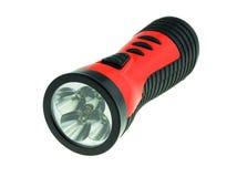 Lampe-torche électrique de poche d'isolement sur le fond blanc Photo stock