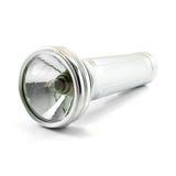 Lampe-torche électrique en métal d'isolement Image libre de droits