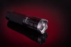 Lampe-torche avec la lumière de LED Image libre de droits