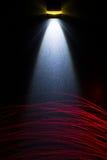 Lampe-torche de LED sur la surface métallique Photographie stock libre de droits