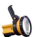 Lampe-torche jaune Images libres de droits