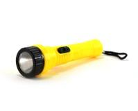 Lampe-torche jaune Photo libre de droits