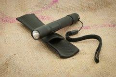 Lampe-torche noire Images stock
