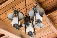 Lampe triple image libre de droits