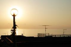 Lampe und Einstellung Sun Lizenzfreies Stockfoto