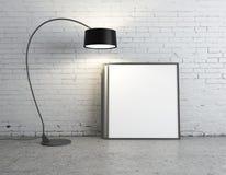 Lampe und Plakat Stockbild