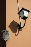Lampe und Schatten Stockbilder