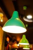 Lampe verte électrique de vintage Image stock